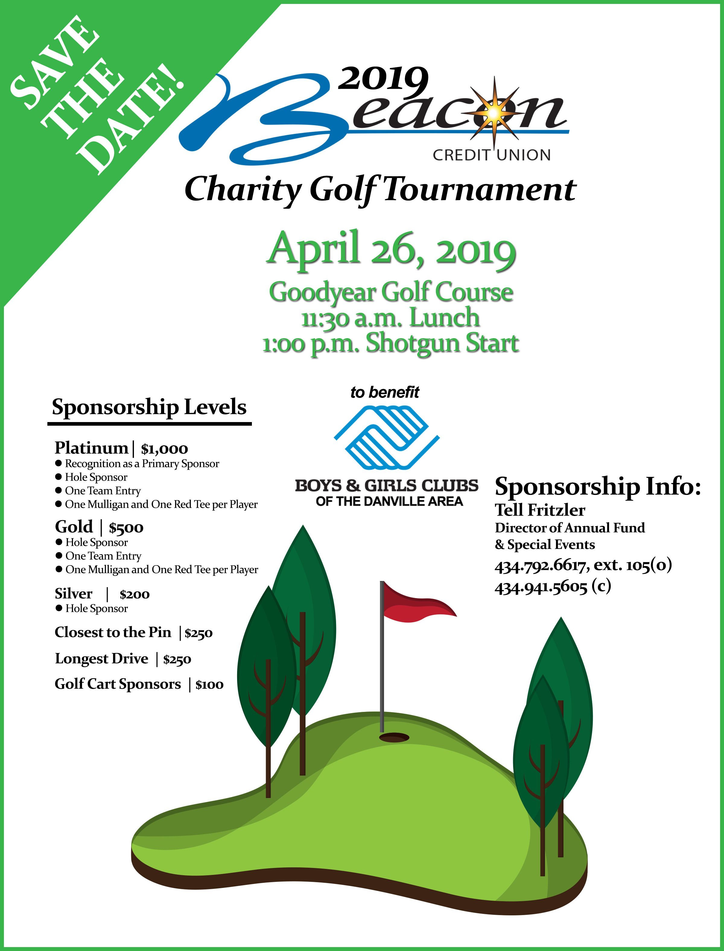 2019 Beacon Credit Union Golf Tournament to benefit Boys & Girls Clubs of the Danville Area